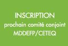 Comité conjoint MDDEFP/CETEQ le 11 avril 2014 à Québec
