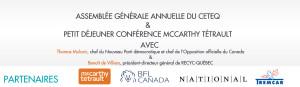 Assemblée générale annuelle du CETEQ et petit déjeuner conférence McCarthy Tétrault
