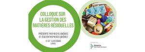 Colloque sur la Gestion des matières organiques de Réseau Environnement