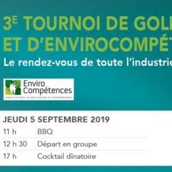 3e Tournoi de golf CETEQ-EnviroCompétences