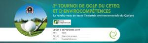Tournoi de golf CETEQ-EnviroCompétences   3e édition