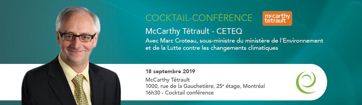 Cocktail-conférence avec Marc Croteau