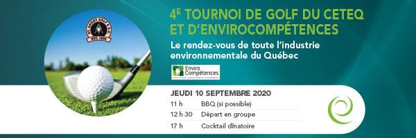 4e Tournoi de golf CETEQ-EnviroCompétences