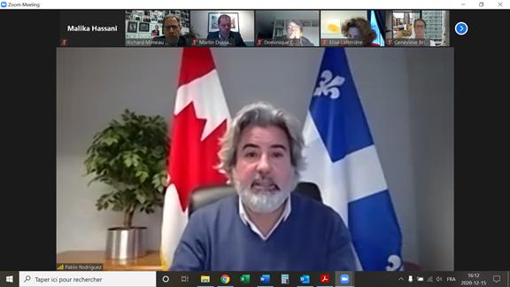 Rencontre avec Pablo Rodriguez, leader du gouvernement à la Chambre des communes et lieutenant du Québec