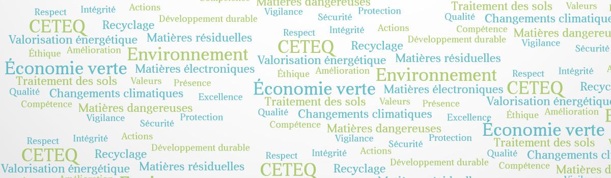 Le CETEQ se positionne sur la cible de réduction d'émissions de GES
