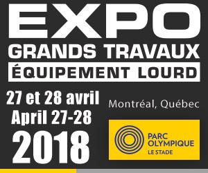 Participez à l'Expo Grands Travaux les 27 et 28 avril prochain!